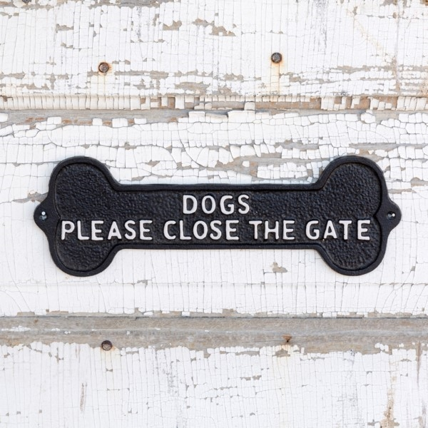 Cast Iron Dog Bone Sign