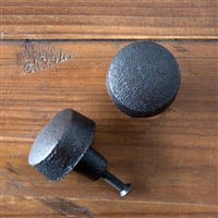 Large Cast Iron Button Knob