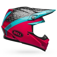 Bell Moto-9 MIPS Helmet - Chief Matte-Gloss Black/Pink/Blue