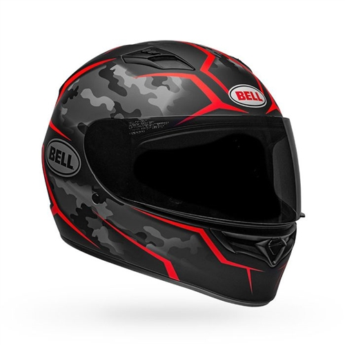 Bell Qualifier Helmet - Stealth Camo Matte Black/Red