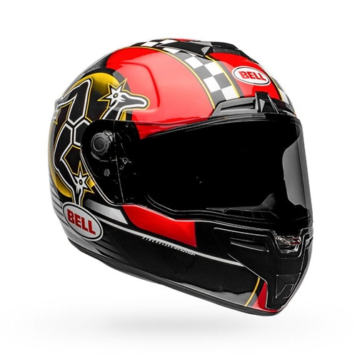 Bell SRT Helmet - Isle of a Man 2020 Gloss Black/Red