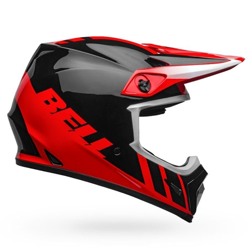Bell MX-9 MIPS Helmet - Dash Gloss Red/Black