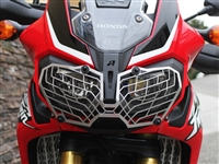 AltRider Stainless Steel Mesh Headlight Guard for the Honda CRF1000L Africa Twin - Silver