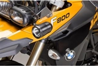 Techmount Auxiliary Driving Light Offset Spacer Mount For BMW F650GS Twin '08-'12 & F800GS '08-'12 With Denali DM And Denali D2 Lighting Kits