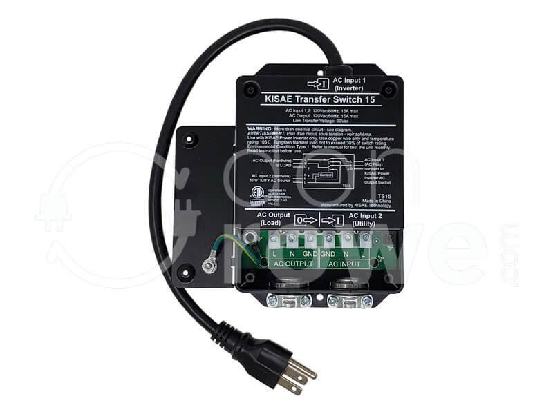DonRowe.com: KISAE TS15A, 15A Automatic Transfer Switch on