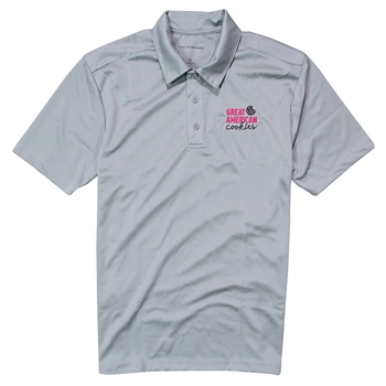 GAC Men's Performance Polo - Gusty Grey