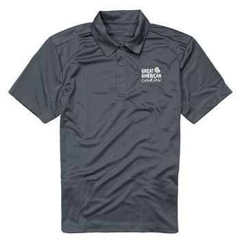 GAC Men's Performance Polo - Steel Grey