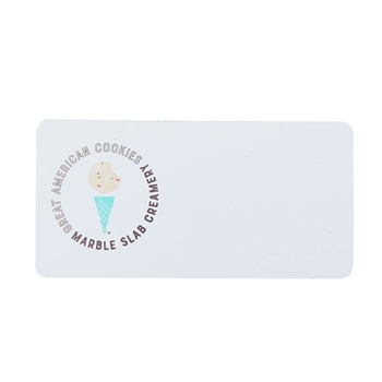 GAC / MSC 1.5 x 3 Name Tag - White