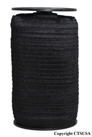 Black Fold Over Elastic Roll