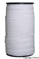 White Fold Over Elastic Roll