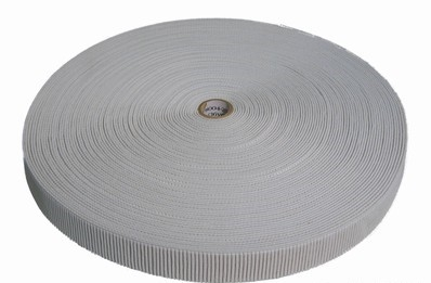 White Non-Roll Ribbed Elastic Roll
