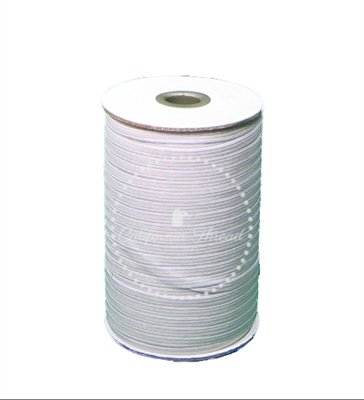 White Braided Elastic Roll