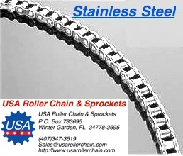 #50 Stainless Steel Side Bow Roller Chain