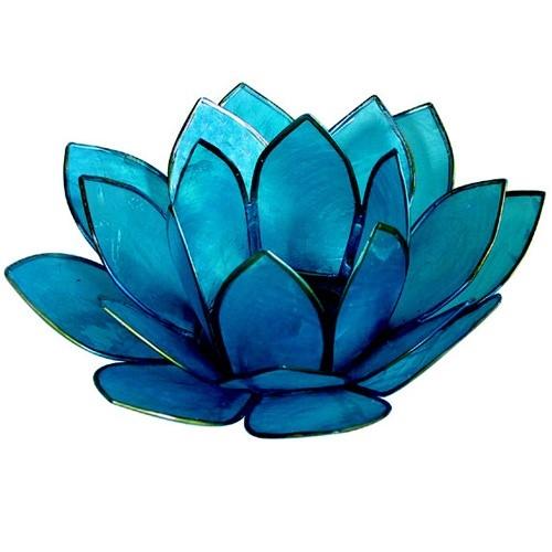 Blue Lotus Tea Light Holder