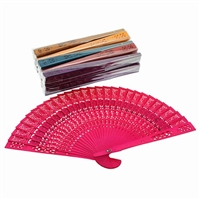Scented Colorful Wood Fans