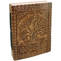 Embossed Tree of Life/Medallion Leather Journal