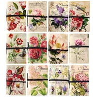 Cottage Garden Mini Journals w/tie Asst Dz