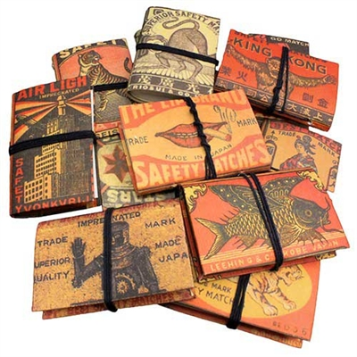 Vintage Matchbox Label Mini Journals