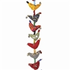 Mini Fabric Bird Strand Prosperity Hens