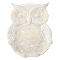 Miss Odetta owl Tray White/Iridescent