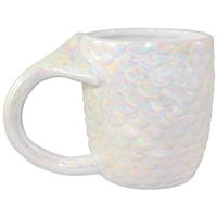 Mia Mermaid Tail Mug White/Iridescent