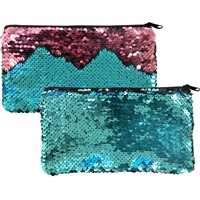 Mermaid Magic Sequin Handbags Aqua & Rose