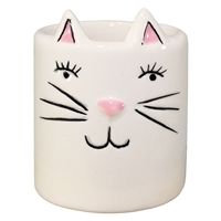 Pinkly Mini Cat Ceramic Pot