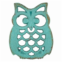 Blue Owl Iron Trivet