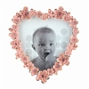 Jewelled Heart Photo Frame Pink