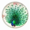 Glass Paperweight Proud Peacock