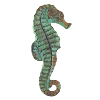 Sea Horse Knob Antique Green