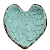 Angel Wings Heart Tray Antique Turquoise