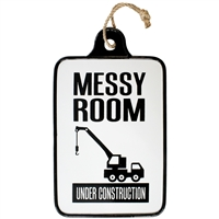 Messy Room Metal Sign