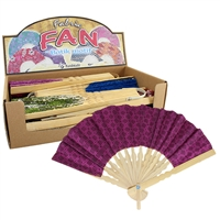 Batikki Fabric Fan Asst 12pc Dsply