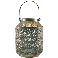 Abbas Gold on Gray Metal Lantern