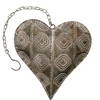 Ashia Metal Heart Decor Gold/Sage/White