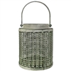Kesia Lantern Green & Gray Metal