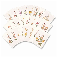 Note Cards Pressed Flowers
