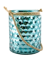 Tahia Marine Blue Mercury Glass Lantern