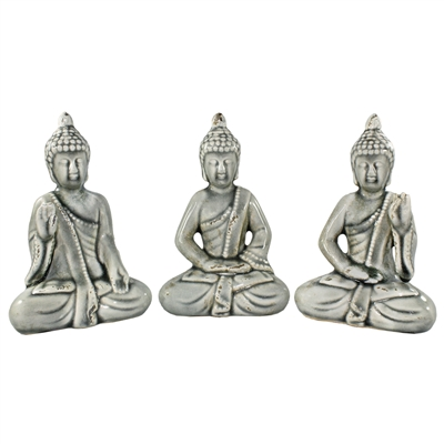 Grey Ceramic Buddha