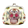 Rosy Sugar Skull Coin Purse