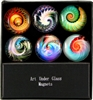 Nautilus Art Glass Magnets
