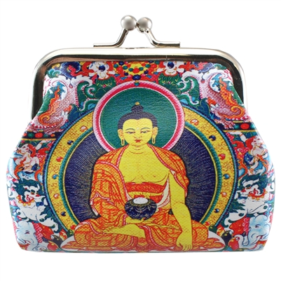 Colorful Buddha Clasp Coin Purse 1Dz