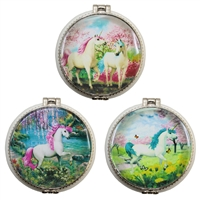 Unicorn Paradise Trinket Box Ceramic Asst