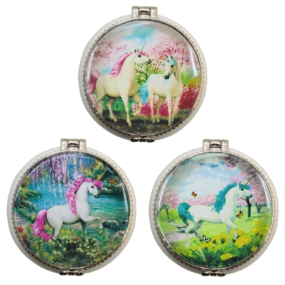 Unicorn Paradise Trinket Box Ceramic