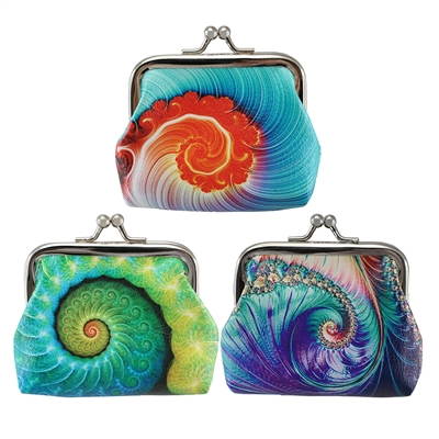 Freeform Nautilus Coin Purse  Asst. Doz
