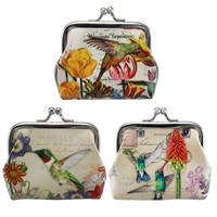Hummingbird Path Garden Coin Purse Asst. Doz