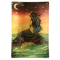 Reina Mermaid Gold Glass Tray