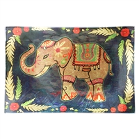 Festival Elephant Gold Glass Tray