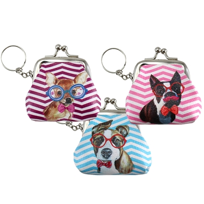 Eye Seeing Dogs Coin Purse Keychains